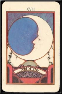 1930's Tarot Card Deck-Moon- ( Museum Stuff )